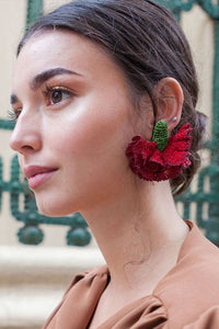 Clavel Burdeos - Verbena earrings