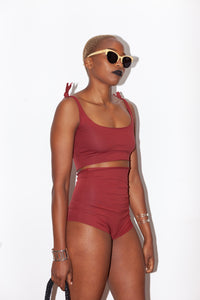 Isole & Vulcani Red High Waist Bikini