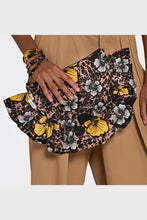 Load image into Gallery viewer, Ruffled Clutch Winter Hibiscus
