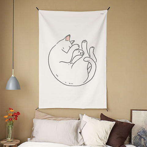 Cat Drawing | 4 Designs | Tapestry
