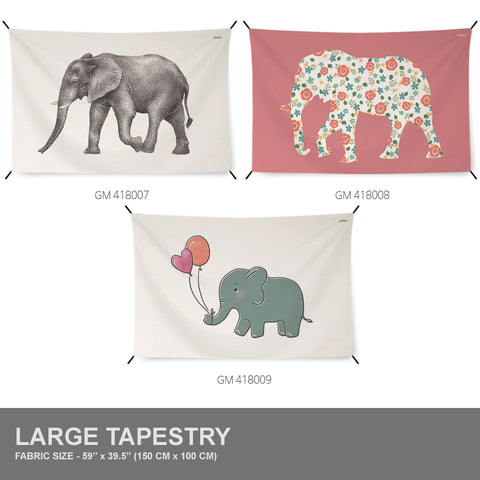 Elephant | 3 Designs | Tapestry