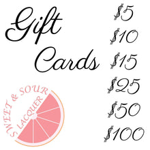 Load image into Gallery viewer, Sweet & Sour Lacquer Gift Card