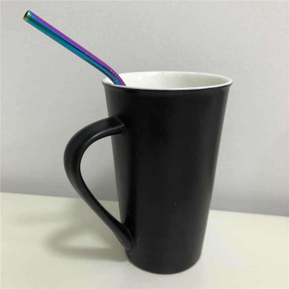 1PCS High Quality Stainless Steel Colorful Drinking Straw