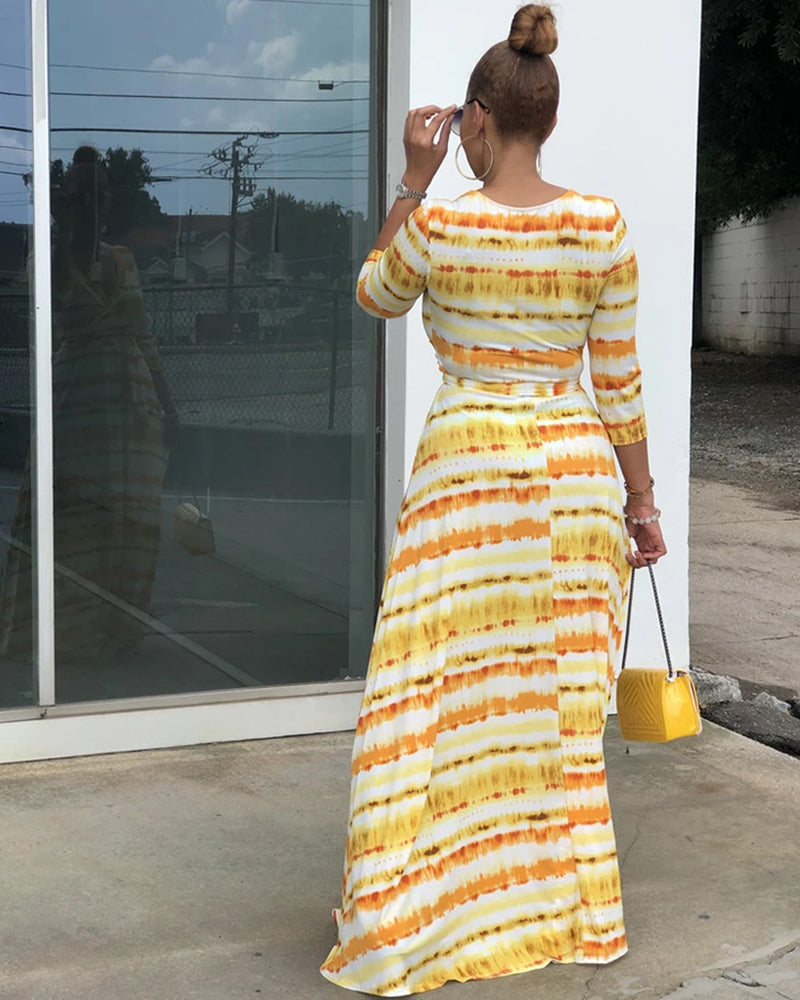 If I'm Lucky Stripe Maxi Dress