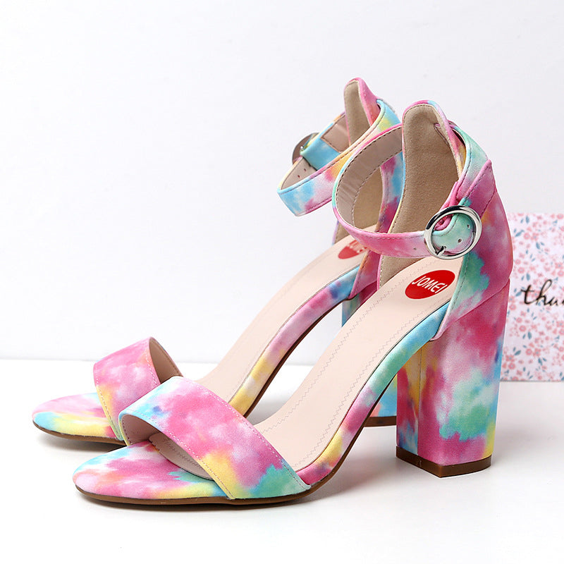Rainbow My Heart High-heeled Shoes