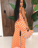 "The ""Hollywood"" Orange Polka Jumpsuit"