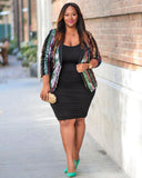 Chic Causal Plus Size Jacket