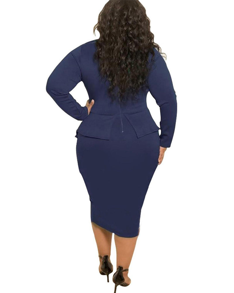 Plus Falbala Pencil Dress