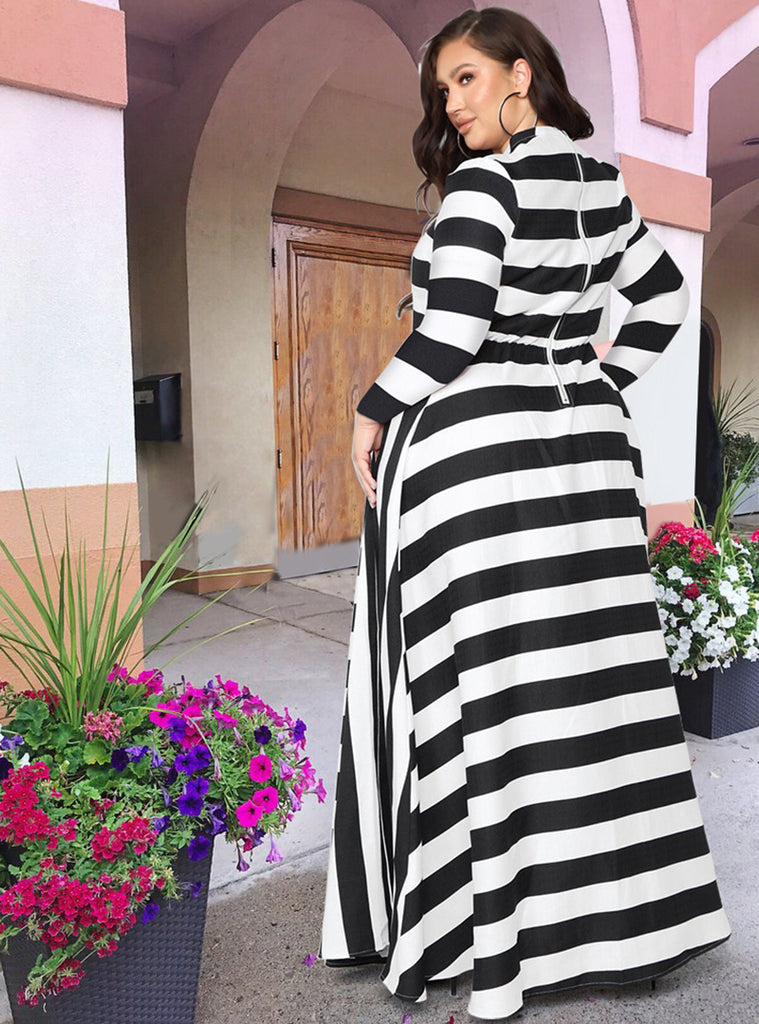 Plus Wake Up Stripe Dress