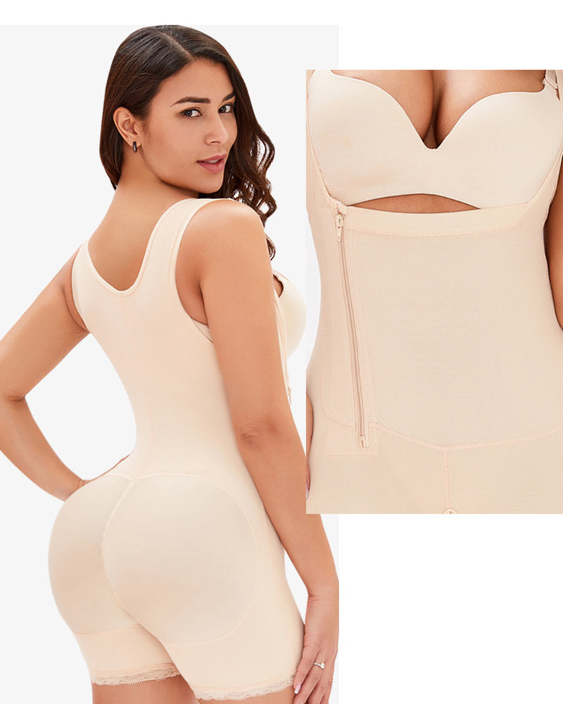 Side zipper Full Body Shaper