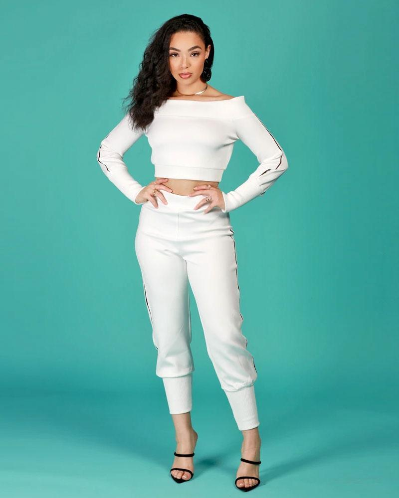 Cold Shoulder 2pc Jogger Set