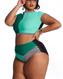 Push Up Patchwork Bathing Suits