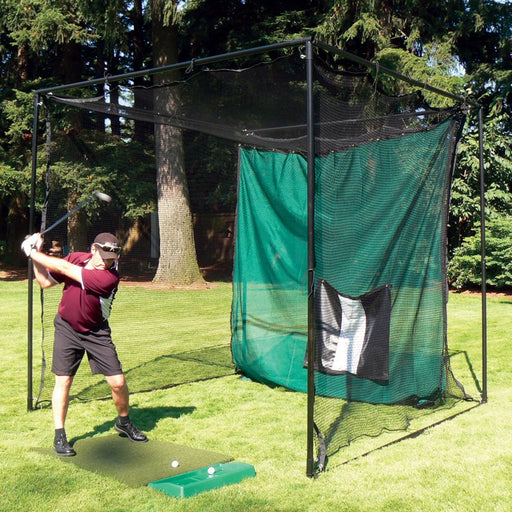 Complete Institutional Golf Cage Frame System (10ft H x 10ft W x 10ft D)