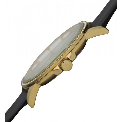 TIMELESS GOLD AND WHITE WITH BLACK STRAP