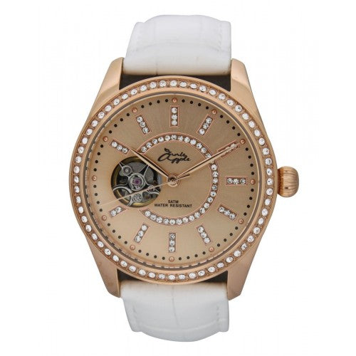 ETERNITY ROSE GOLD CASE AND DIAL WHITE STRAP