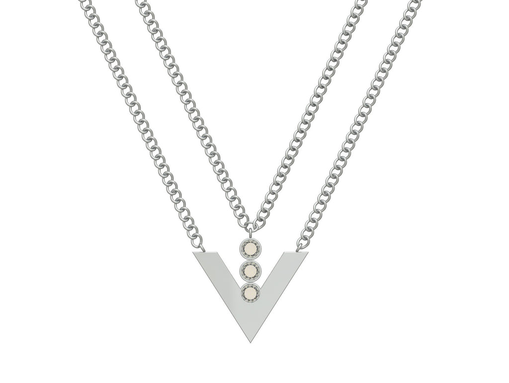 La Voie Double Chain Necklace