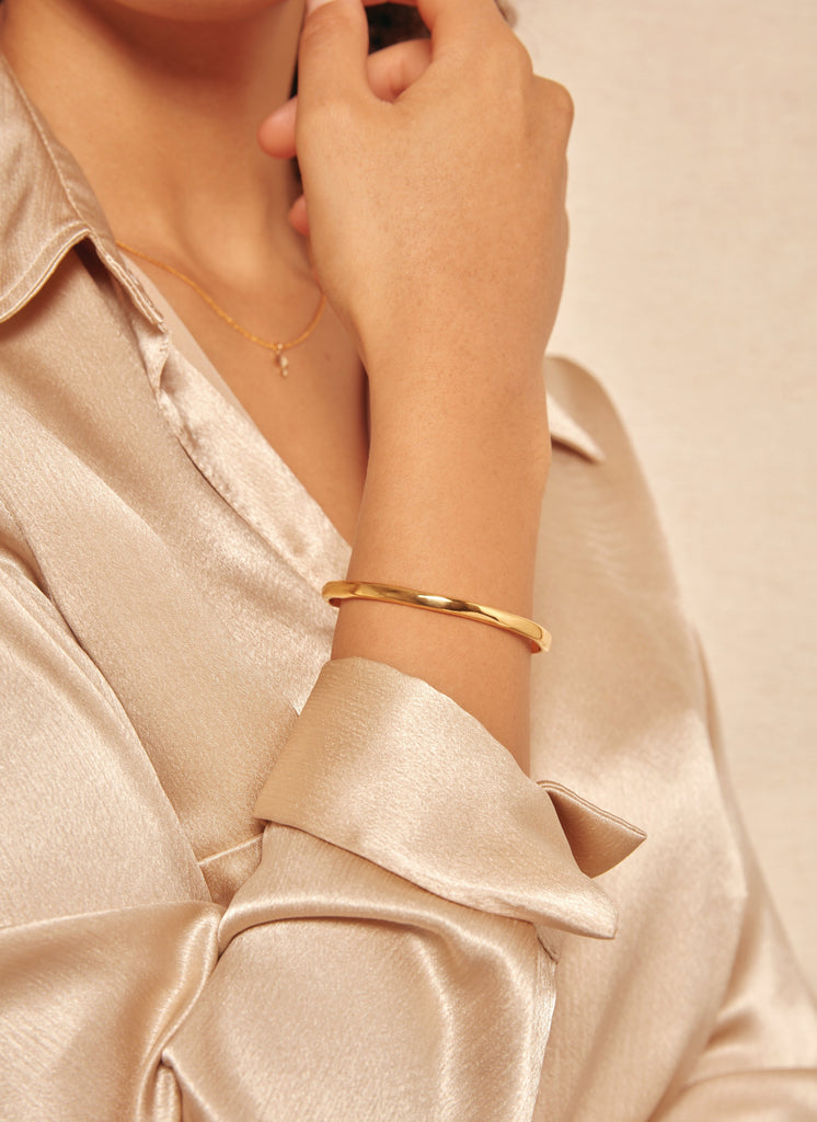 Gold bangle, Gold plated bangle, Silver bangle