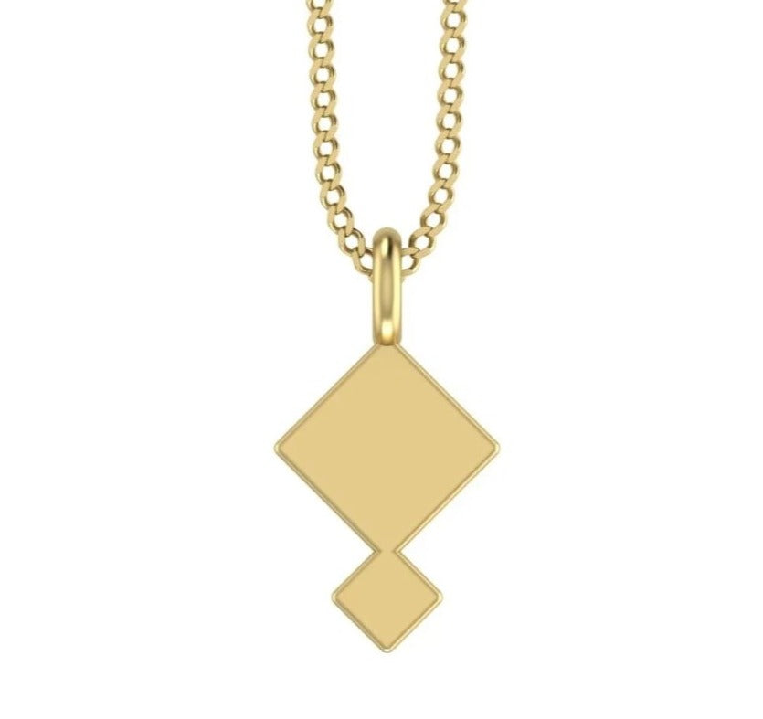 9ct Yellow Gold necklace, jwllry by jade necklace, jade necklace, jwllry by jade business, jwllry by jade jewellery, bedford business, jwllry by jade gold necklace, geometric necklace, gold minimal necklace