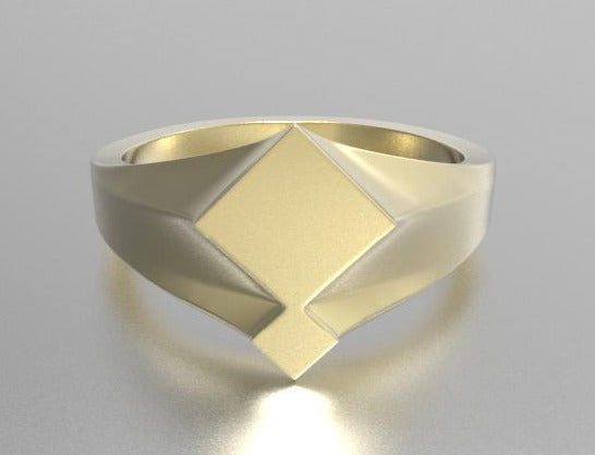 gold signet ring, jwllry by jade signet ring, gold geometric ring, his and hers signet ring, bedford signet ring, bedforshire gold signet ring, jewellery by jade, signature signet ring, 9K ring, gold ring,