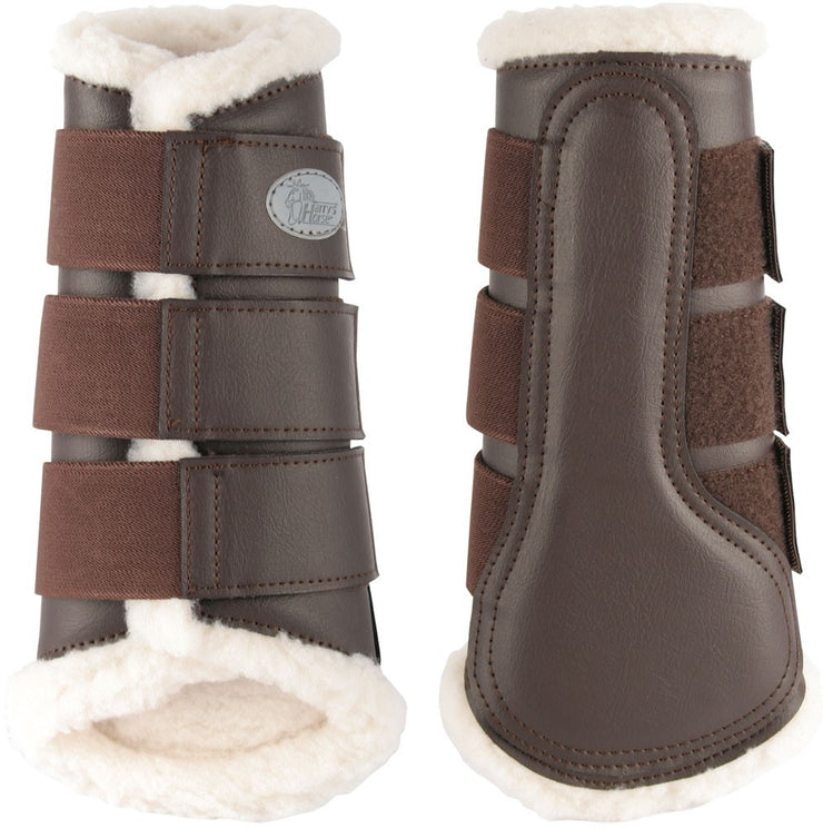 Dressage Support Boots Brown Tendon
