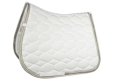 Crystal Saddle Pad - White