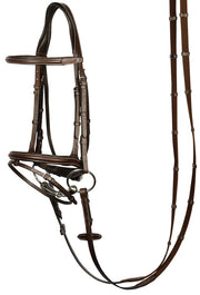 Nottingham Dressage Snaffle Bridle - Brown