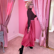 Load image into Gallery viewer, The Lace Me Up Turtleneck Top - Pink Stripe Knit - Fall/Winter 2020