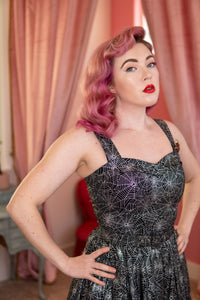 The Marilyn Dress - Spider Web Print