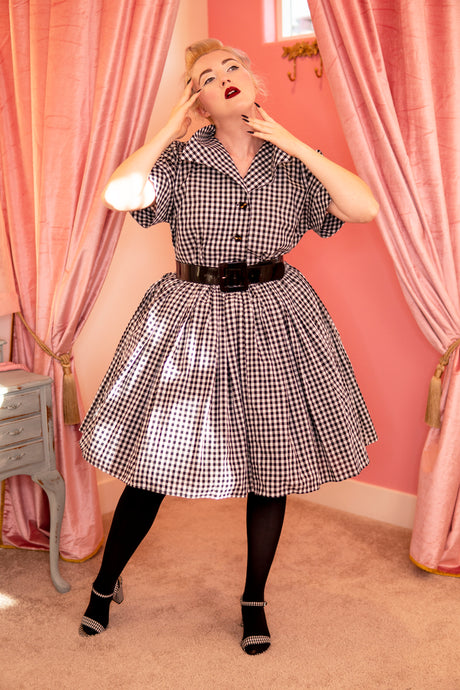 Audrey Full Gathered Skirt - Gingham Print - Fall 2020