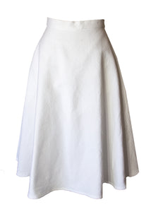 Grace Cotton Pique Swing Skirt