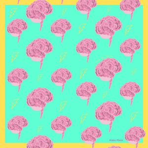I Love Your Brain Silk Charmeuse Scarf