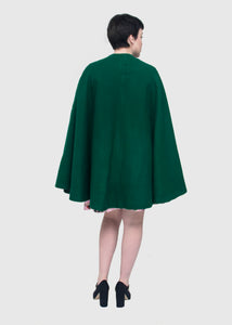The Adventure Emerald Wool Cape