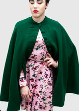 Load image into Gallery viewer, The Adventure Emerald Wool Cape