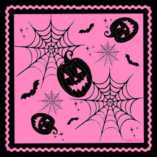 Load image into Gallery viewer, A Pink Halloween Silk Charmeuse Scarf