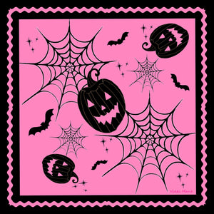 A Pink Halloween Silk Charmeuse Scarf