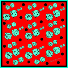 Load image into Gallery viewer, Roll The Dice Silk Charmeuse Scarf
