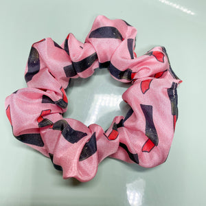 100% Silk Scrunchie - Pink My Weapon Of Choice