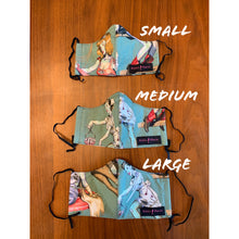 Load image into Gallery viewer, Reusable Cotton // Zombie Pinup Print Face Mask // With Adjustable Elastic Straps
