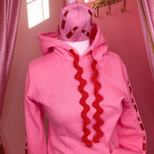 Load image into Gallery viewer, Your Favorite Hoodie - Petal Pink With Red Glitter Lipstick - Unisex, Hand Dyed & Customizable