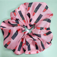 Load image into Gallery viewer, 100% Silk Scrunchie - Pink My Weapon Of Choice