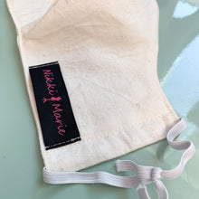 Load image into Gallery viewer, Reusable Unbleached Muslin Cotton // Face Mask // With Adjustable Elastic Straps