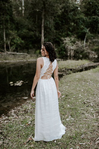 Harmony Gown In Cotton Lace - Between Me and You Bridal