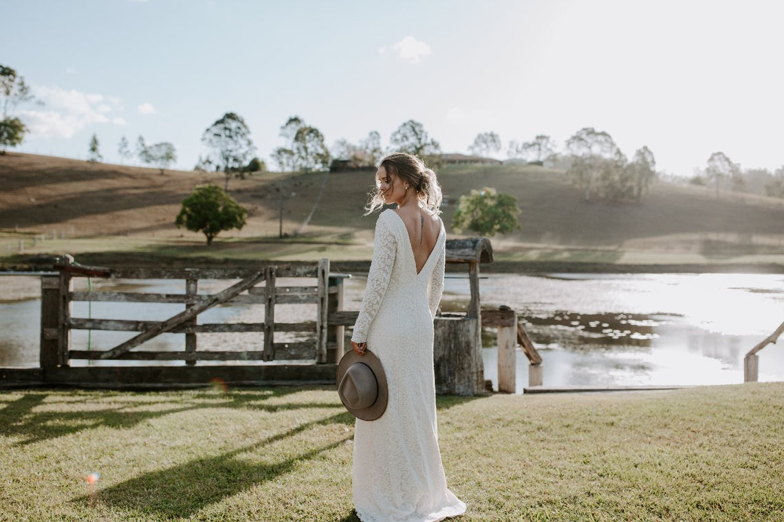 Flora Gown In Cotton Lace - Between Me and You Bridal