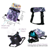 Watercolor Grid Dog Harness Backpack