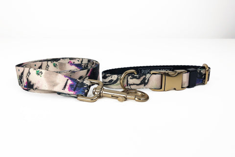 Marbleized Collar  + Leash