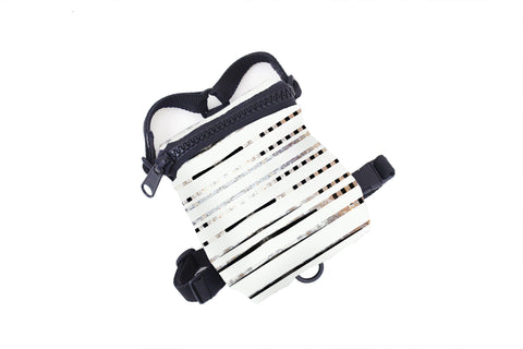 White Stripe Dog Harness Backpack