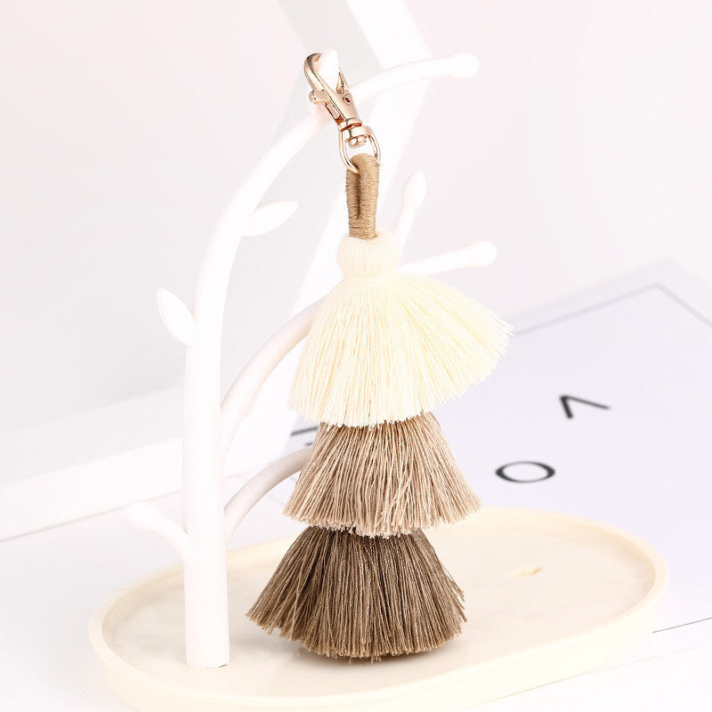 Colourful Boho Tassel Keychain Bag Charm