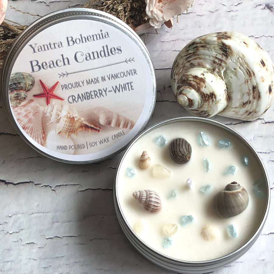 Boho Beach Candle - 2oz metal tin