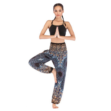 Black Dark Blue Boho Harem Pants