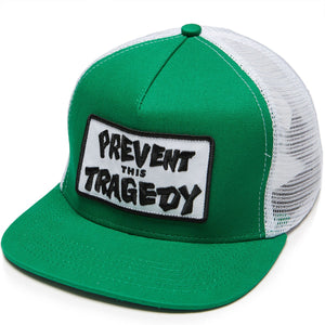 Thrasher - Gorro Trucker Prevent This Tragedy Green/White